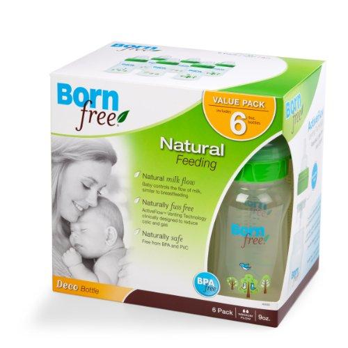 Born Free Deco系列宽口奶瓶 6个装 $24.45 配置2段奶嘴