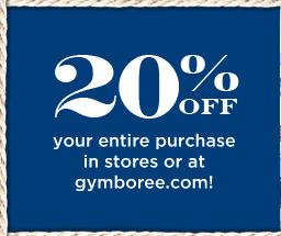 金宝贝Gymboree 20% OFF优惠码申请攻略