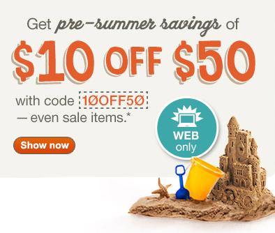 促销活动:Walgreens 50-10,叠加部分产品第二件半价