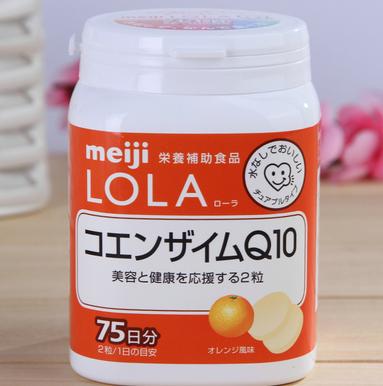 亚马逊日本:Meiji明治 LOLA辅酶Q10 抗氧化咀嚼片150粒 901日元,