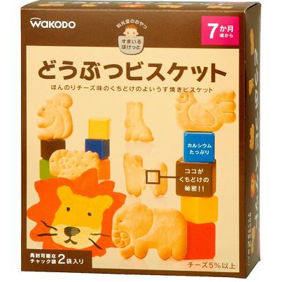 日本亚马逊:和光堂 婴幼儿 奶酪高钙款 动物磨牙饼干8包装 646日元,