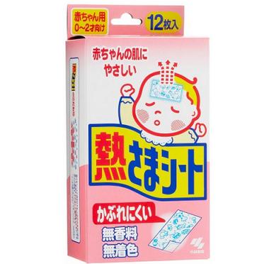 日本亚马逊:小林幼儿退热贴/退烧贴 粉色款12片 491日元,