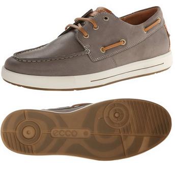 历史新低价!!ECCO Eisner 混合莫克系列 男式休闲船鞋$79.96,
