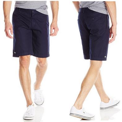无节操大降14刀,Lacoste Twill Classic Fit 男式休闲短裤$55.99,