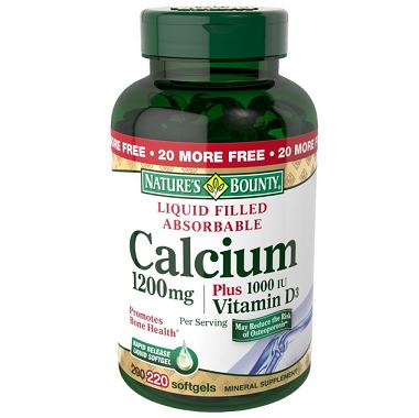 历史新低价!!Natures Bounty Calcium 自然之宝 含VD配方 液体钙胶囊220粒$15.18,