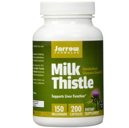历史新低价!!护肝解酒必备,Jarrow Milk Thistle杰诺 水飞蓟护肝片200粒装$10.99,