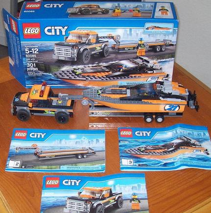 历史新低价!!LEGO City Great Vehicles with Powerboat 赛艇运输车$20.79,