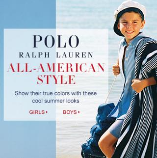 Ralph Lauren官网:儿童服饰夏季大促,满$100额外85折、满$175额外75折、满$275额外7折,