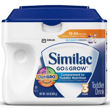 Similac 雅培金盾系列 12-24个月 3段幼儿奶粉624g*6罐$107.64,