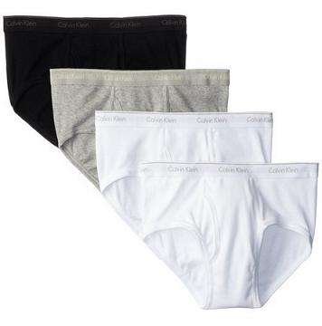 Calvin Klein 4-Pack 基础款纯棉内裤4条装$22.09,
