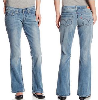 Levis 524 李维斯 女式低腰牛仔裤$17.93,