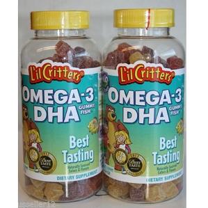Lil Critters Omega-3 儿童深海鱼油水果软糖60粒*2瓶$8.38,