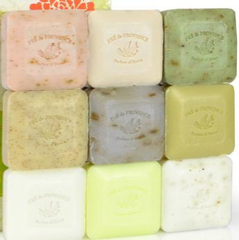 历史新低价!! Pre De Provence法国普罗旺斯 天然手工香皂9个装礼盒$9.59 ,