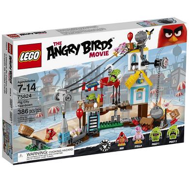 历史新低价!!LEGO Angry Birds 75824 愤怒的小鸟系列 猪猪城镇战$29.99,