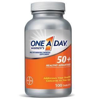 One A Day 50+ 拜耳 50岁+女性复合维生素100粒$10.99,