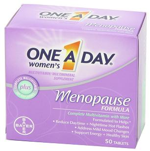 BAYER拜耳 ONE A DAY Menopause Formula女性更年期复合维生素片50粒$12.72,