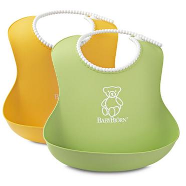 中亚海外购:BABYBJORN Soft Bib 婴儿防水/防碎软胶围兜2只¥94.79,