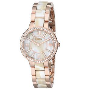 历史新低价!!Fossil ES3716 Virginia系列 女式时装腕表$80.98,
