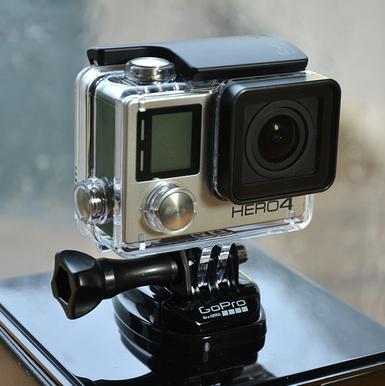 历史新低价!!GoPro HERO4 Black 旗舰运动相机$349.99,