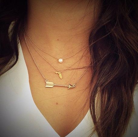 中亚海外购:GOLD金色款,美爆了!!Dogeared Pearls of Love Necklace 大号白珍珠锁骨项链¥196.99,